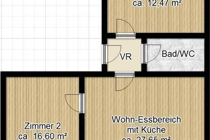 PROVISIONSFREI FÜR DEN MIETER! Lichtdurchflutete Dachgeschosswohnung an der Mur! 3-Zimmer! WG-fähig! Ruhelage!