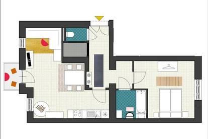 360° Tour! PÄRCHENTRAUM! Möblierte 2 Zimmer Wohnung mit Balkon in der Rankengasse!