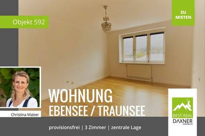 ***Provisionsfrei*** Zentrale 3-Zimmer Mietwohnung (72m²) in Ebensee zu mieten!