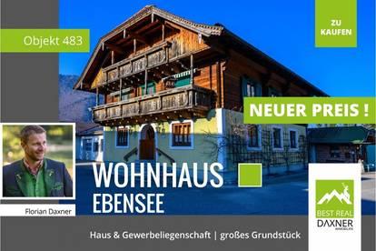 Großzügiger, ehemaliger Handwerksbetrieb samt traditionellem Wohnhaus in Ebensee!