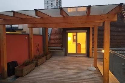 Wohnung mit 100 m² Dachterrasse Nähe Universität - Provisionsfrei