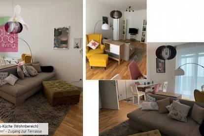Business apartment: Komplett möblierte, wunderschöne Erstbezugswohnung mit Terrasse und Garagenstellplatz in Traumlage Korneuburgs