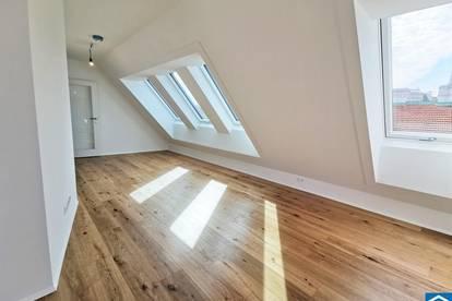 ERSTBEZUG: Exklusive 2 Zimmer Dachgeschosswohnung