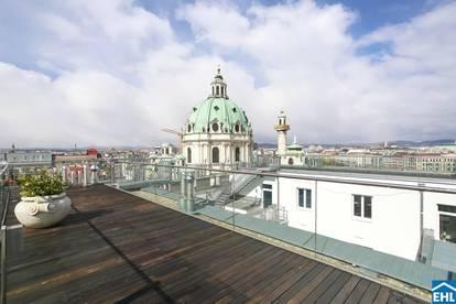 Exklusive Penthouse-Wohnung mit Dachterrasse und wunderschönem Rundumblick