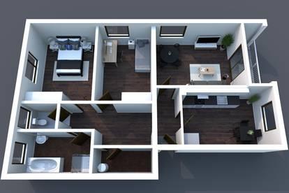 Günstige Wohnung in Gamlitz mit 3 Zimmer + Küche mit Essecke, Gartenmitbenutzung, Zentral in 8462 Gamlitz / Leibnitz
