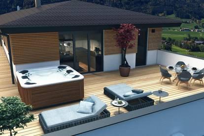 Sensationelles Penthouse Mondsee - mit 135 m² Wfl. und großer umliegender Dachterrasse mit 125 m², Lift bis in die Wohnung - hochwertigste Ausstattung ! ! !