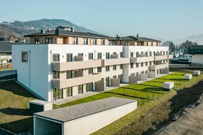 Trendige 2 Zi. NEUBAU - Mietwohnung Mondsee/Tiefgraben mit sonnigem Westbalkon, Lift, Tiefgaragenplatz