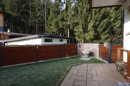 Gemütliche 3 Zi. Gartenwohnung ca. 84 m² Wfl. in Mondsee-Höribach, Einzelgarage und großem Kellerraum ! ! ! Pelletsheizung ! ! !