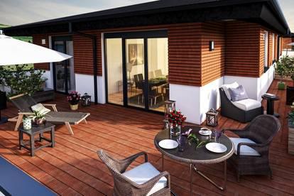 Sensationelles Penthouse in Mondsee - mit ca.135 m² Wfl. und großer umliegender Dachterrasse mit 153 m², Lift bis in die Wohnung - hochwertigste Ausstattung ! ! !