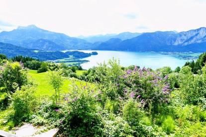 Baugrund mit Altbestand und phantastischem See+Bergblick