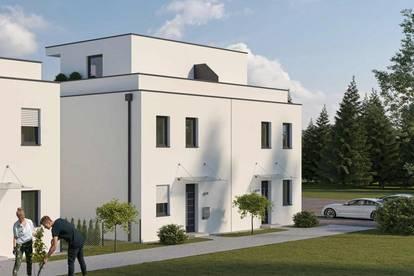 Leistbare Doppelhaushälfte mit Dachterrasse und Gartenanteil (Haus 1 DT)