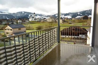 Terrasse mit Ausblick! Helle 3-Zimmerwohnung in Andelsbuch