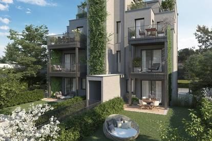 NEUBAUPROJEKT IN GRINZING: Außergewöhnliche Maisonette-Gartenwohnung!