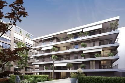 TOP DESIGN NEUBAU - 3 Zimmer , 25m² Balkon, INKL. Garagen Stellplatz