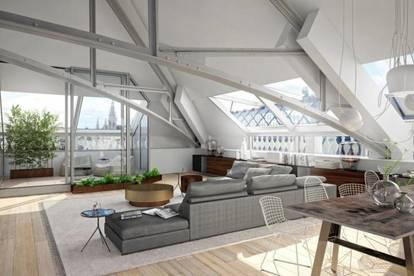 1. BEZIRK - NÄHE HOTEL KEMPINSKI: Luxuspenthouse mit herrlicher Dachterrasse und tollen Blicken!