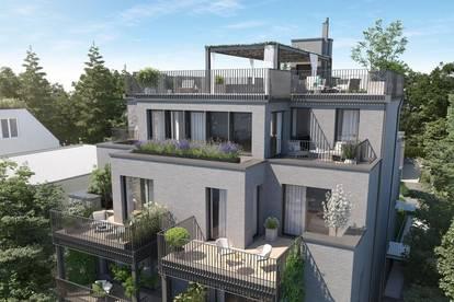 NEUBAUPROJEKT IN GRINZING: Erstklassige Penthouse Maisonette Wohnung mit Pool!
