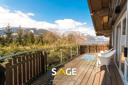 Ausblick auf den Zeller See und die Bergwelt der Hohen Tauern!
