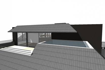 PENTHOUSE der Extraklasse - mit Rooftop Pool in Grünlage