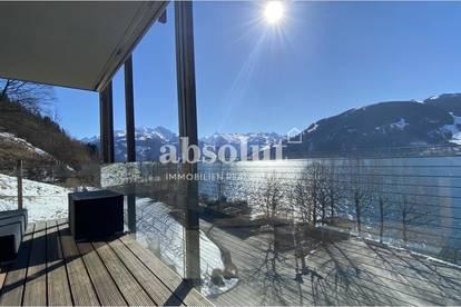 Elegantes Ferienappartement mit 270 ° Panoramablick auf den See! Wellness und privater Badestrand!