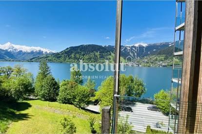 Luxus-Ferienimmobilie mit unverbaubarem Panoramablick über den See! Sauna und Nutzung von Badestrand