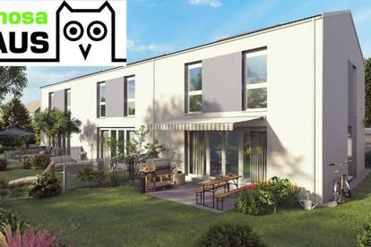 Geräumiges Reihenhaus: 109m² Wohnfläche, 58m² Keller, Terrasse, Eigengarten und 2 Parkplätze. Prov.frei!