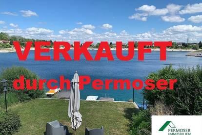 UFERPARZELLE – großes Seehaus mit privatem Badesteg auf Pachtgrund zu verkaufen