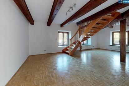 Großzügige 87,5 m² Maisonette mit stilvoller Holztreppe