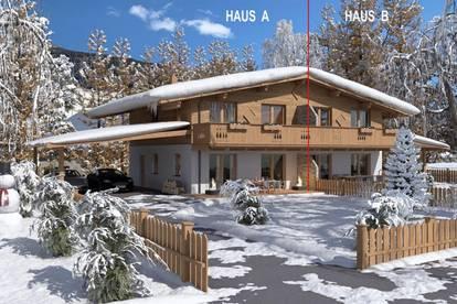 Neubau Chalet Doppelhaus mit Bergblick Haus A