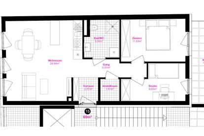 Moderne 3-Zimmer-Wohnung mit zwei Balkonen