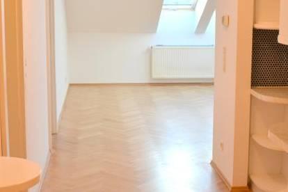 Exklusive, ca. 106 m² große Maisonette Wohnung mit ca. 20m² Dachterrasse und wunderschönem Ausblick über die Dächer von Wien!