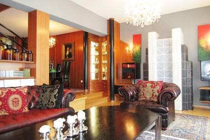 Exklusive, klassische & luxuriöse 5 Zimmer – Maisonette - Wohnung mit Garten (ca.151,67 m²) , Süd-West Terrasse Tiefgarage, am Blumenhang , Waltendorf –Graz