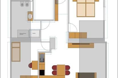 Vermiete in Dellach ab 1 Juli - Drautal moderne sanierte 3 Zimmerwohnung mit 2 PKW Abstellplätze
