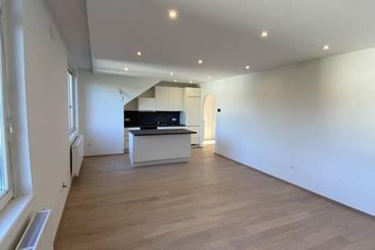Teilmöblierte 3 Zimmer Dachgeschosswohnung - komplette Ruhelage mit Grünblick - KLIMAANLAGE - nahezu Erstbezug