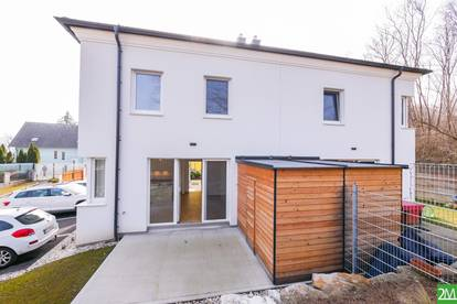 Moderne Doppelhaushälfte am Fuß der Burg Kreuzenstein