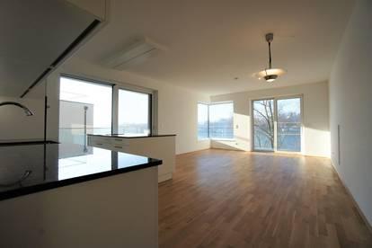 Neue Top-Wohnung direkt am Donaustrand in Feldkirchen mit Blick auf Aschach