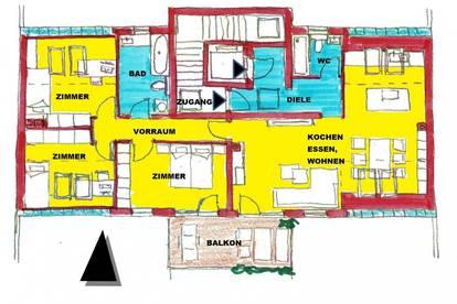 repräsentative Dachgeschoss-Wohnung über das ganze Geschoss, schlüsselfertig mit großem Balkon in Sooß bei Baden