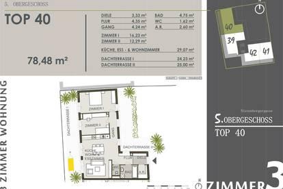 Living City: Provisionsfreie Dachgeschosswohnung mit drei Zimmern