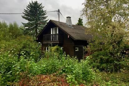 Nähe Wienerwald - Idyllisches Grundstück mit einem Holzhaus - ideal als Wochenendhaus