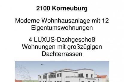 PROVISIONSFREI ! - KORNEUBURG - VORSORGE- und EIGENNUTZERWOHNUNGEN - ERSTBEZUG - Top 15 - opt. TIEFGARAGENPLATZ - FREIFLÄCHEN - moderne Wohnhausanlage - RUHIGE LAGE - DACHGESCHOSS mit DACHTERRASSE