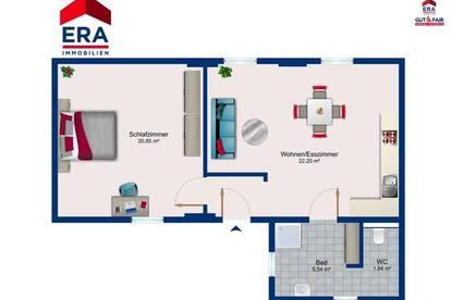 2-Zimmer Erdgeschosswohnung ERSTBEZUG nach Sanierung