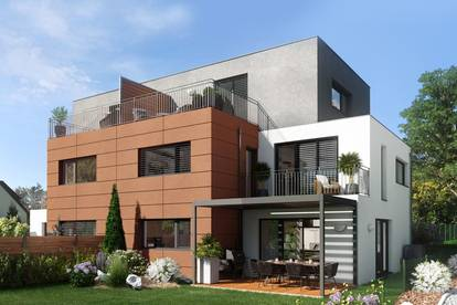 Modernes Doppelhaus auf Eigengrund mit großem Garten, in herrlicher Ruhelage mit Fernblick
