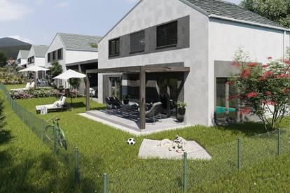 Modernes Doppelhaus in Sooß in absoluter Ruhelage in den Weingärten