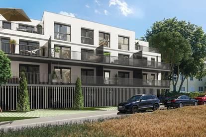 Vier-Zimmer-Wohnung im Dachgeschoß, große Terrasse mit Fernblick, ruhiger begrünter Innenhof