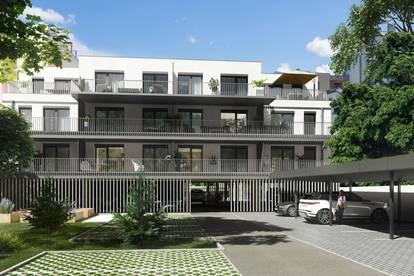 Dachgeschoß, Zwei-Zimmer-Wohnung, Terrasse mit schönem Blick, Garagenplatz und Carportstellplatz