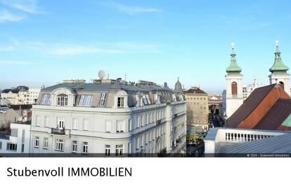 Direkt beim Rochusmarkt! Exklusive 4 Zi, 132m², ohne Schrägen! Mit 40m² Terrassen und herrlichem Aus- und Fernblick!