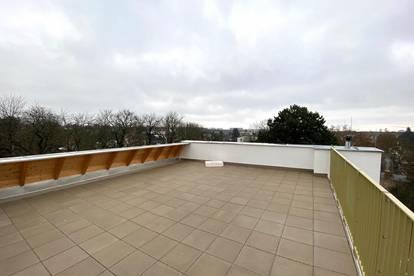 NEUBAU! 3 Zimmer-Dachgeschoss mit 69 m² Terrasse + 46,84 m² Dachterrasse