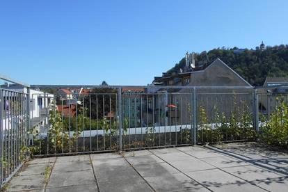 LENDPLATZ außergewöhnlich ! Dachterrasse mit Schloßbergblick  sonnige 3ZI barrierefrei, TG