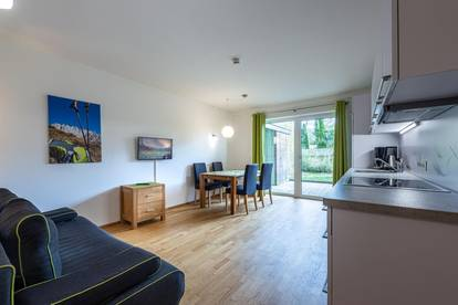 Vollmöblierte 2-Zimmer Gartenwohnung in Kössen