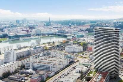 Brucknertower - Super modernes Architekturkonzept! Wohlfühlen auf kleinstem Raum + Balkon!