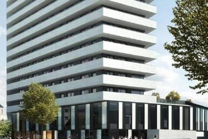"""""""Ein schönes Stück von der Torte""""! Zwei Raum Wohnung auf modernstem Standard im höchsten Wohntower von Linz!"""